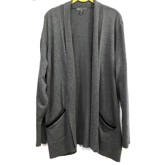 89th & Madison Sweaters - 89th & Madison gray open front cardigan 2X